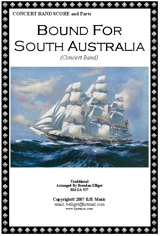 Bound For South Australia Concert Band Score and Parts PDF